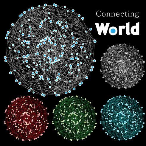 """Abstrato """"mundo de conexão"""""""