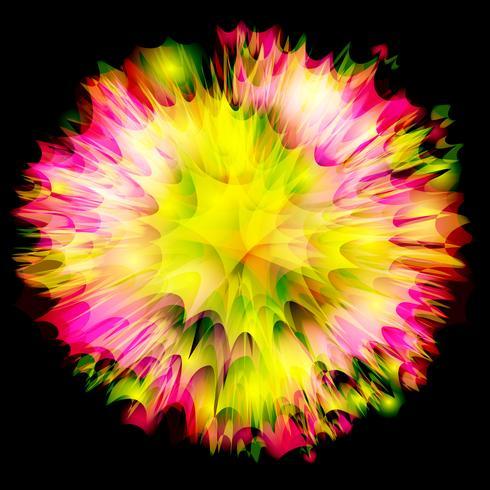Explosion / Blumenvektordesign