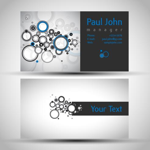 Abstract business-card front and back vector