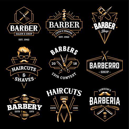 Barber Shop Vector Retro emblemen