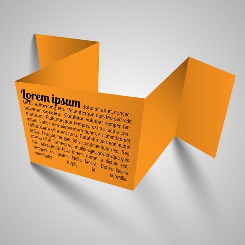 Plantilla de vector de papel naranja