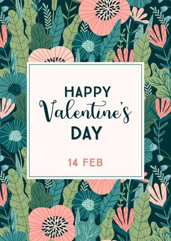 Concepto de diseño floral para el día de San Valentín y otros usuarios. vector