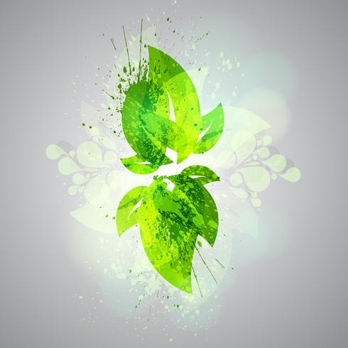 Folhas verdes abstratas vetor