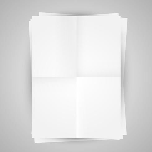 Blank papers vector illustration