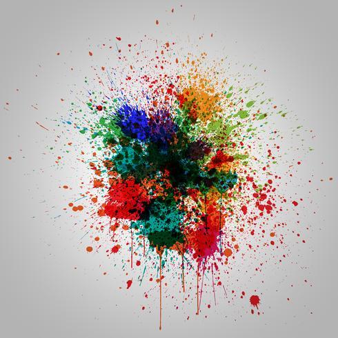 Efecto splash colorido, ilustración vectorial