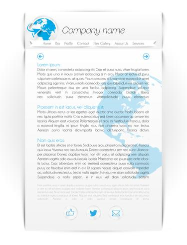 Moderne één pagina-website, vectorillustratie
