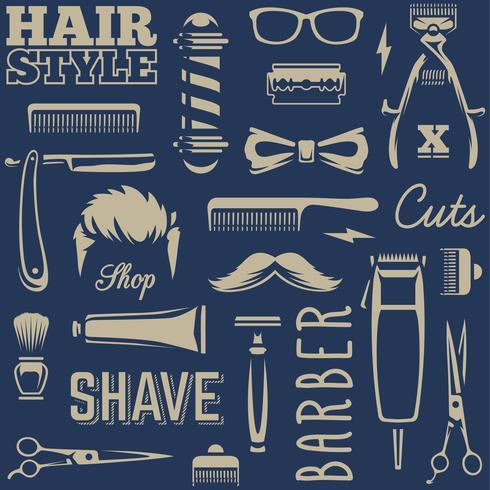 Barber Tools Seamless Texture Vector