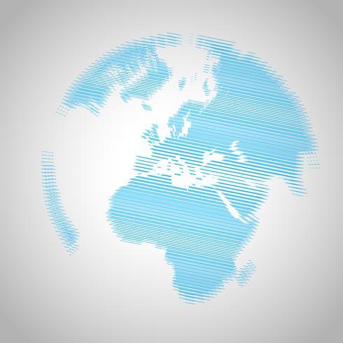 World eps10 vector background- moiré effect