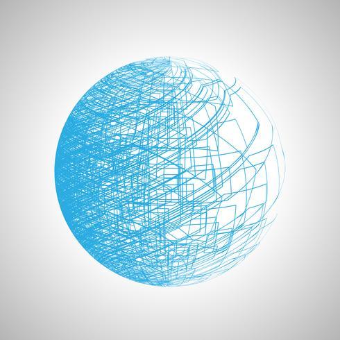 Abstrakte Linie Kunsthintergrundvektor vektor