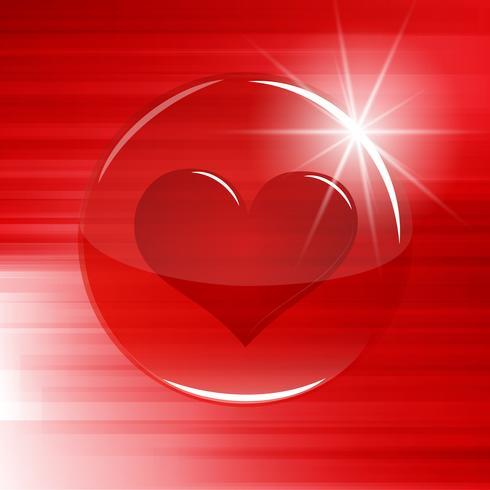 Corazón en un botón / esfera