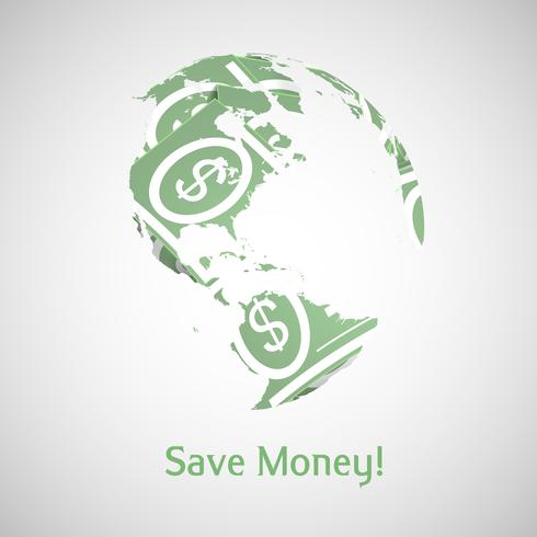 Earth and money vector illustration