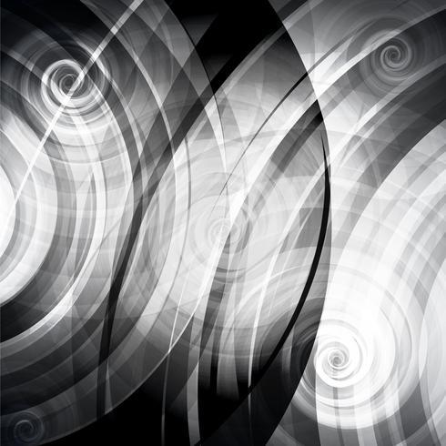 Vector gris círculos y giros