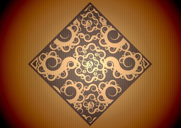 Vintage brunt mönster
