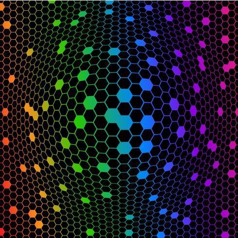 Abstrakta färgglada oktagoner
