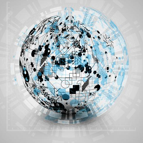Earth globe vector illustration for advertising