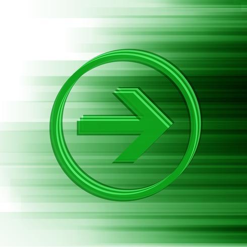 Freccia verde vettoriale per web, vettoriale