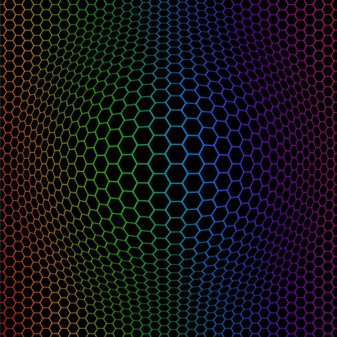 Octogones colorés abstraits vecteur