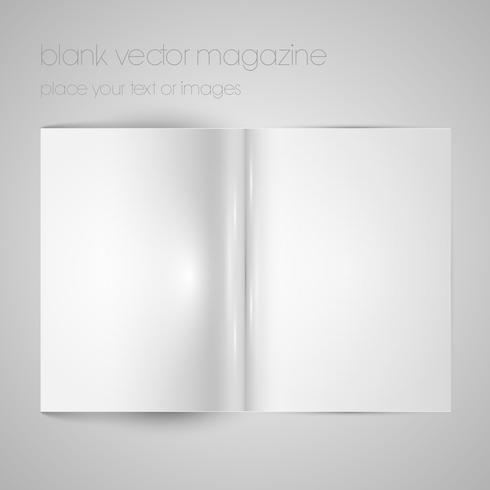 Blank vektor tidningspapper