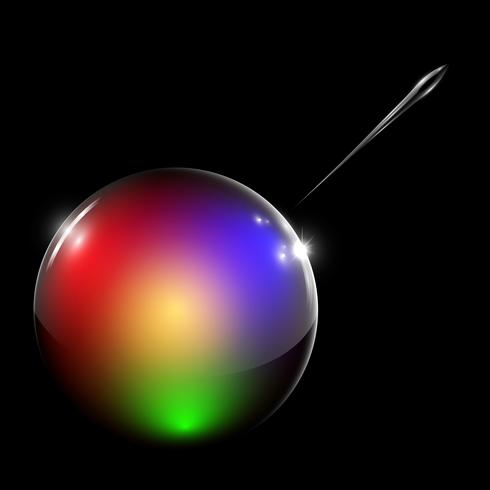 Burbuja de vector claro colorido