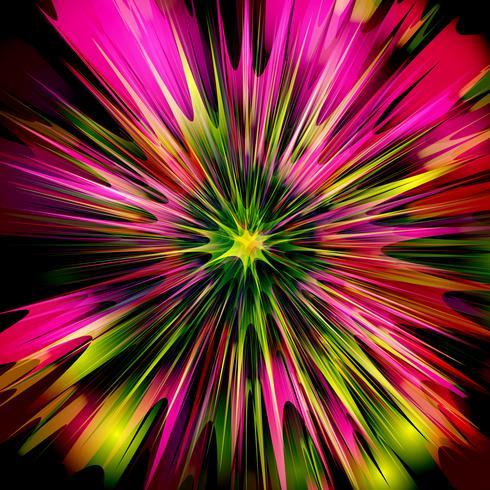 Explosión / diseño del vector de la flor