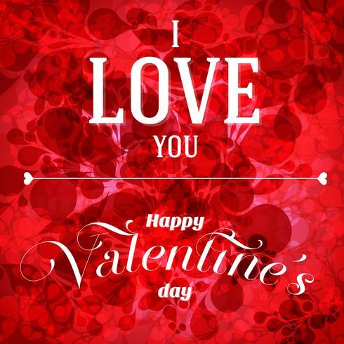 Valentine's day vector flyer