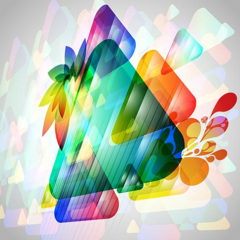 3D-kleurrijke driehoeken