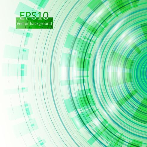 Groene cirkelsachtergrond in eps10, vectorillustratie
