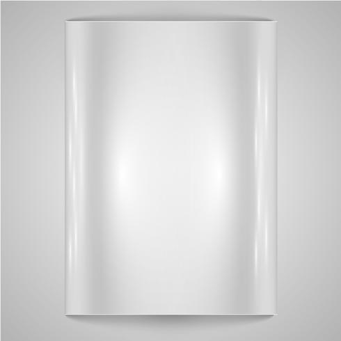 Fond de papier blanc / acier vecteur