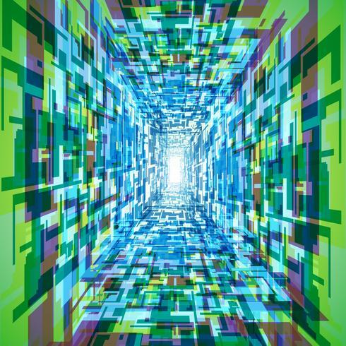 Färgglada vektor tunnel bakgrund
