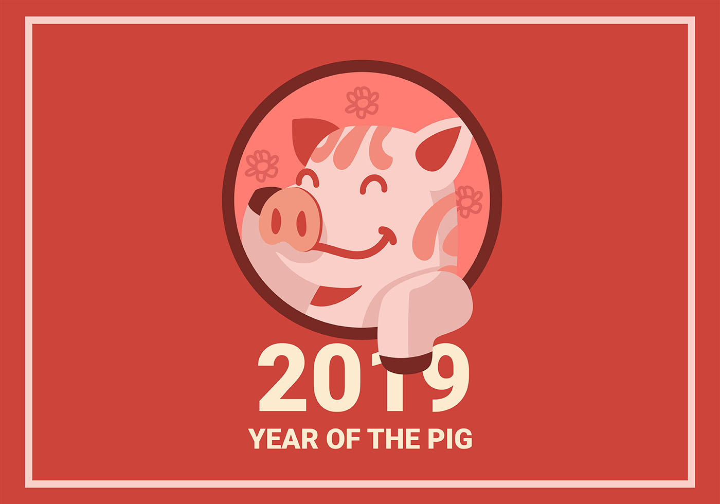 Oroscopo Cinese Maiale 2019 maiale cinese di nuovo anno - scarica immagini vettoriali