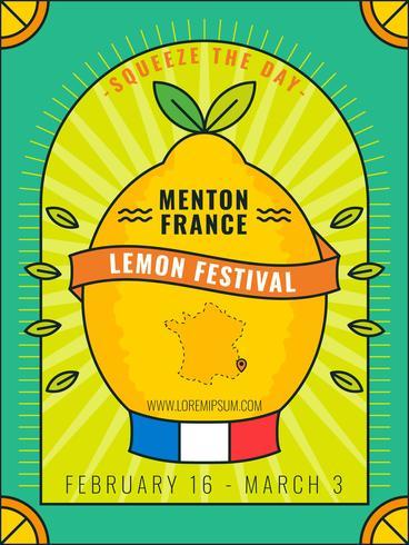 Gullig Menton France Citron Festival Vector