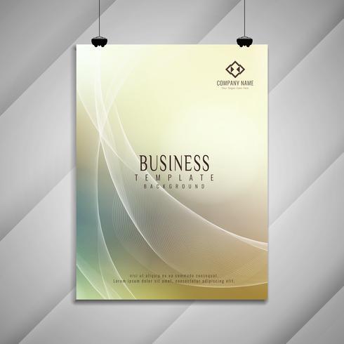 Diseño de folleto de negocio ondulado colorido abstracto