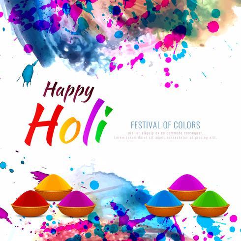 Fondo decorativo abstracto feliz Holi festival religioso vector