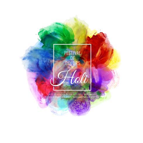 Illustrazione decorativa felice astratta del fondo di festival variopinto felice di Holi