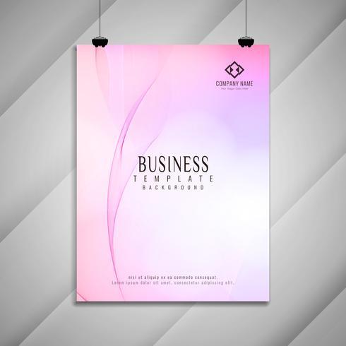 Disegno astratto colorato opuscolo di affari ondulati