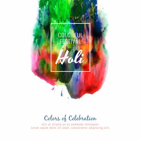Abstrait Happy Holi fond coloré fête célébration vecteur