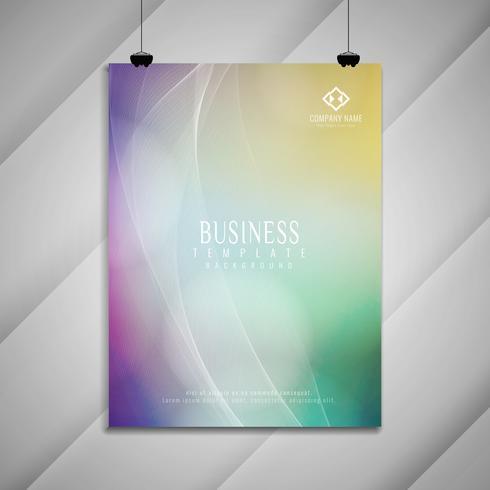 Abstraktes buntes gewelltes Geschäftsbroschürendesign