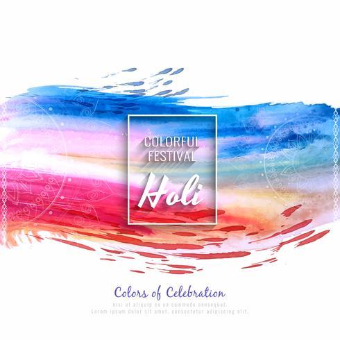 Illustrazione variopinta astratta della priorità bassa di festival di Holi felice