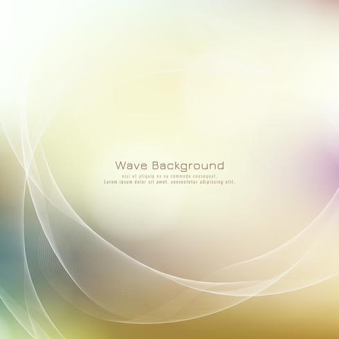 Fondo elegante colorido del estilo abstracto de la onda vector