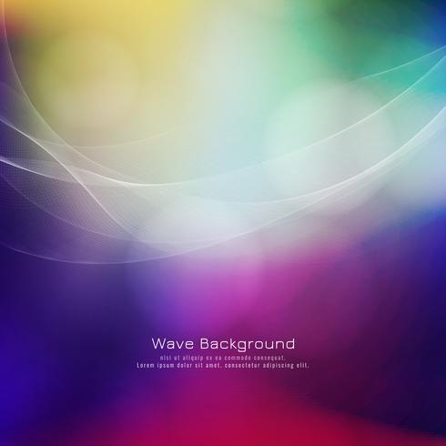 Fondo elegante colorido del estilo abstracto de la onda