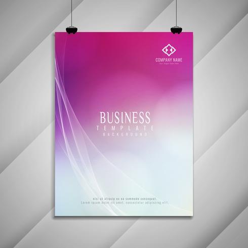 Abstrait élégant design de brochure entreprise coloré ondulé
