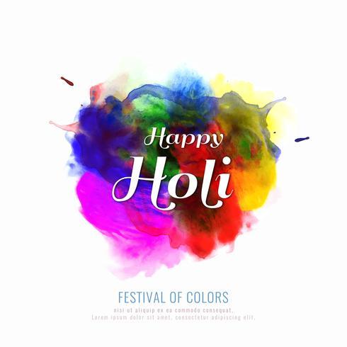 Ilustración colorida abstracta feliz del fondo del festival de Holi vector