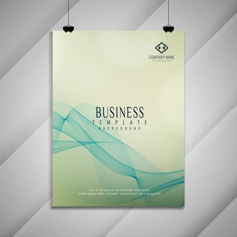 Diseño ondulado moderno colorido abstracto del folleto del negocio vector