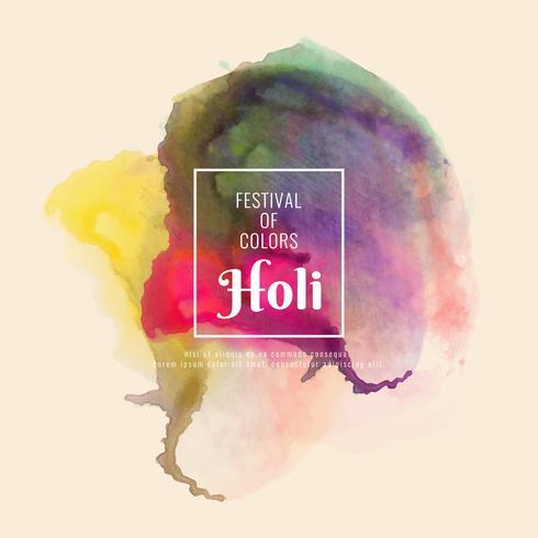Abstrait Happy Holi fond coloré vecteur décoratif festival