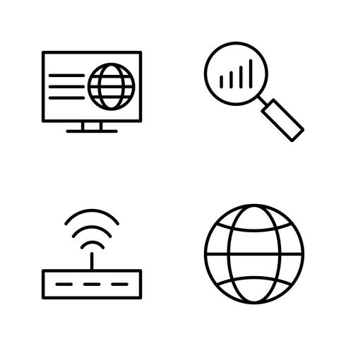 Icônes de vecteur de référencement