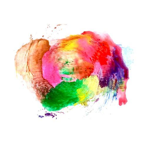 Fundo abstrato colorido aquarela mancha vetor
