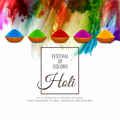 Abstract Happy Holi religious colorful festival background