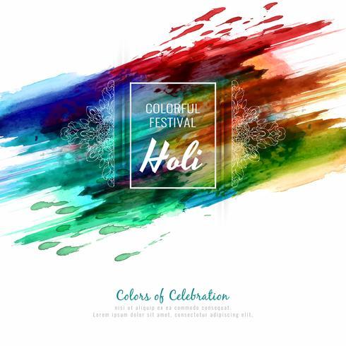 Resumo feliz Holi festival colorido elegante ilustração de fundo