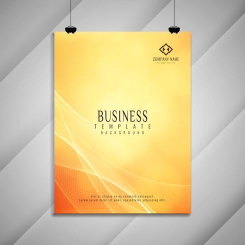Abstrait coloré design élégant brochure affaires ondulées