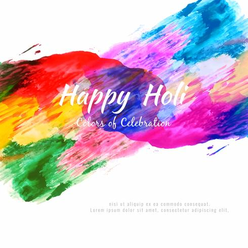 Abstract Happy Holi colorful festival vector background illustration